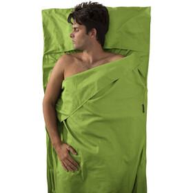 Sea to Summit Premium Cotton Wkład do śpiwora Traveller z miejscem na poduszkę, green